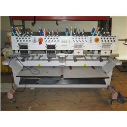 Melco Model 0105001 EMT 10/4T 4-Head, 10-Needle Embroidery Machine