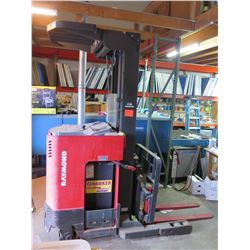 Raymond EASI-R30TT Reach Stand-Up Electric Forklift w/ Charger (Needs Battery)
