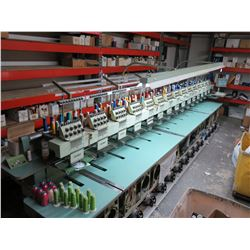 Tajima TME-DC915 Embroidery Machine (7 & 11 head disconnected but runs without these heads)
