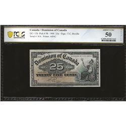 Dominion of Canada DC-15b 1900 $0.25 AU50 Details PCGS