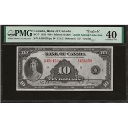 Bank of Canada BC-7 1935 $10 EF40 PMG