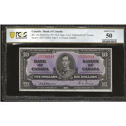 Bank of Canada BC-24a 1937 $10 Osborne AU50 PCGS