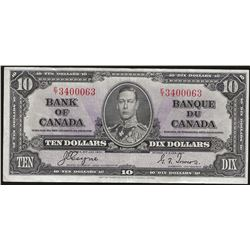 Bank of Canada BC-24c 1937 $10 VF35 RAW