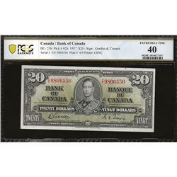 Bank of Canada BC-25b 1937 $20 EF40 PCGS