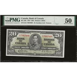 Bank of Canada BC-25b 1937 $20 AU50 PMG