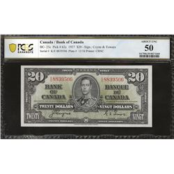 Bank of Canada BC-25c 1937 $20 AU50 PCGS