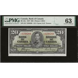 Bank of Canada BC-25c 1937 $20 CHUNC63 PMG