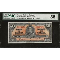Bank of Canada BC-26b 1937 $50 AU55 PMG
