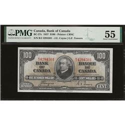 Bank of Canada BC-27c 1937 $100 AU55 PMG