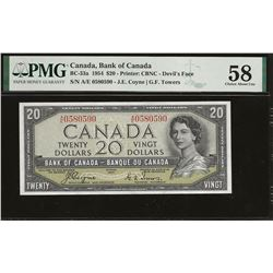Bank of Canada BC-33a 1954 $20 Devil's Face AU58 PMG