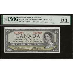 Bank of Canada BC-33b 1954 $20 Devil's Face AU55 PMG