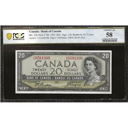 Bank of Canada BC-33b 1954 $20 Devil's Face AU58 PCGS