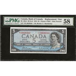 Bank of Canada BC-39bA 1954 $5 *I/X AU58 PMG