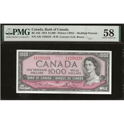 Bank of Canada BC-44d 1954 $1,000 AU58 PMG
