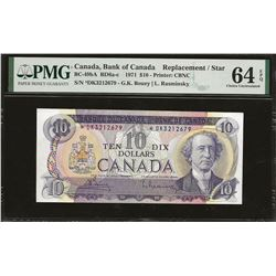 Bank of Canada BC-49bA 1971 $10 *DK replacement CHUNC64 EPQ