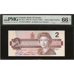 Bank of Canada BC-55c-i 1986 $2 GEM66 EPQ PMG RADAR