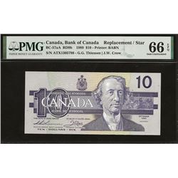 Bank of Canada BC-57aA 1989 $10 ATX replacement GEM66 EPQ PMG