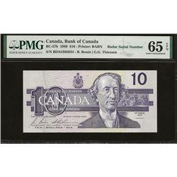 Bank of Canada BC-57b 1989 $10 GEM65 EPQ PMG RADAR