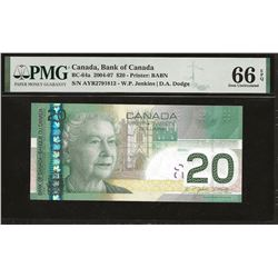 Bank of Canada BC-64a 2004 $20 GEM66 EPQ PMG