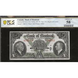 Bank of Montreal 505-60-02 1935 $5 AU58 PCGS