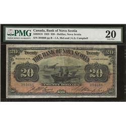 Bank of Nova Scotia 550-28-18 1925 $20 VF20 PMG