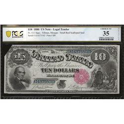 USA Fr. 111 1880 $10 VF35 (Missing corner) PCGS