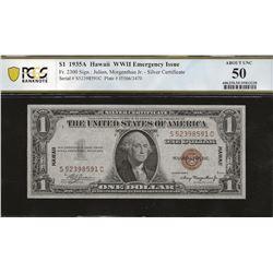 USA Hawaii Fr. 2300 1935A 1935 $1 AU50 PCGS