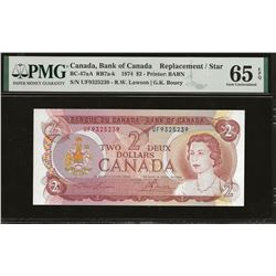 Bank of Canada BC-47aA 1974 $2 GEM65 EPQ PMG RADAR