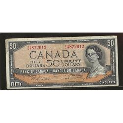 Bank of Canada 1954 $50 VF