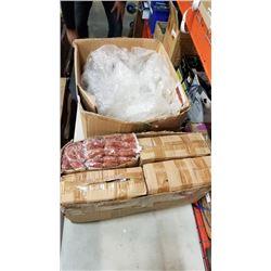 Box of new Copper Pot scrubbers and bubble wrap