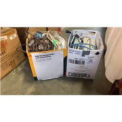 2 BOXES EXTENTION CORDS AND POWER BARS