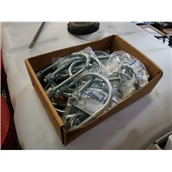 Box of new various size u-bolts