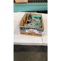 BOX OF CABINET LOCKS AND SCREWS