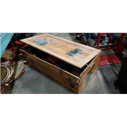 Wood crate with RC parts