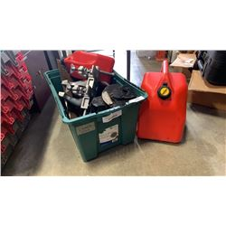 TOTE OF TOOLS, ELECTRIC MOTOR, SQUARES