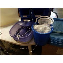 New spinning mop bucket and mop heads with conair foot Spa