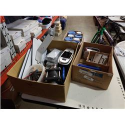 3 BOXES OF SHOP SUPPLIES, VANCOUVER MUGS, HARDWARE