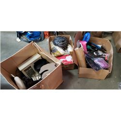 3 BOXES MOP HEADS, KIDS BASKETBALL GAME, ESTATE GOODS