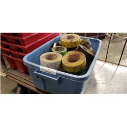 Tote of tape rolls