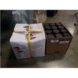Box of new aerosol belt dressing and box of 1.25 Inch Nails