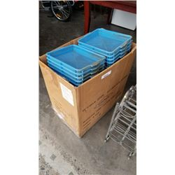 Box of blue parts trays