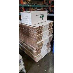 Large stack of new cardboard boxes