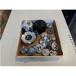 TRAY OF HUBCAP EMBLEMS