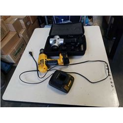 Percussion massager and 12V dewalt drill with battery and charger