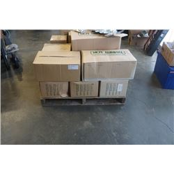 PALLET OF TIMBER LOK CONSTRUCTION HARDWARE - ONE BOX OF EACH PART SHOWN INCLUDES BEAM CONNECTORS, HU