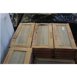 32 BOXES OF EASIDOOM WOOD LOOK GREY/BROWN TILE 300 X 600 MM 6 PER BOX