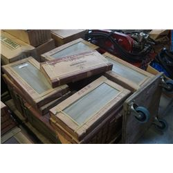 33 BOXES OF EASIDOOM WOOD LOOK GREY/BROWN TILE 300 X 600 MM 6 PER BOX