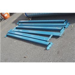 6 pallet racking beams 7.5 feet long