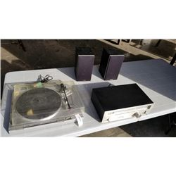 PAIR OF PRECISION SPEAKERS, AKAI AP-D2 TURNTABLE AND PIONEER STEREO TUNER - RECORD PLAYER NEEDS NEW