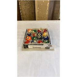 Box of pool ball keychains 2- 14balls